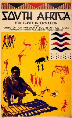 South Africa Cole Bowen Modernist 1930s - original vintage poster by Cole Bowen listed on AntikBar.co.uk