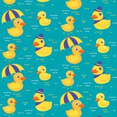 ducks fabric by katja_saburova on Spoonflower - custom fabric