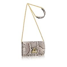 Twist chain wallet +Python - Small Leather Goods   LOUIS VUITTON