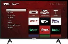 """TCL 43"""" Class 4-Series 4K UHD HDR LED Smart Roku TV. TCL 43"""" Roku Smart TV. Smart Platform: Roku TV. 4K Ultra HD Resolution. Your Roku TV works with Amazon Alexa or Hey Google. High Dynamic Range (HDR) Technology. Netflix Videos, Netflix Hacks, Dolby Digital, Digital Tv, Digital Media, Apple Tv, Led Apple, Question Quiz, Tv Without Stand"""