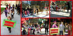 La Biblioteca Manuel Alvar traspasa sus muros y sale a la calle. Participamos en el Árbol de la convivencia de #Navidad del barrio de Delicias (2014, Zaragoza).