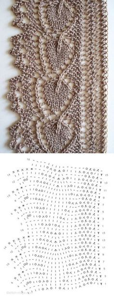 New Ideas for knitting lace edging pattern Crochet Edging Patterns Free, Lace Knitting Patterns, Crochet Lace Edging, Knitting Stiches, Knitting Charts, Lace Patterns, Crochet Stitches, Hand Knitting, Knit Lace