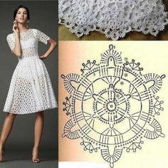 Débardeurs Au Crochet, Mode Crochet, Crochet Blouse, Filet Crochet, Crochet Crafts, Crochet Doilies, Crochet Motif Patterns, Crochet Designs, Dress Patterns