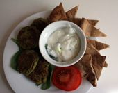 This tzatziki is great with falafel, pita and veggies. - love this stuff!!