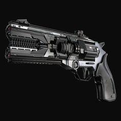 Sci Fi Weapons, Weapon Concept Art, Weapons Guns, Fantasy Weapons, Military Weapons, Sci Fi Fantasy, Sci Fi Pistol, Hand Cannon, Sword Design