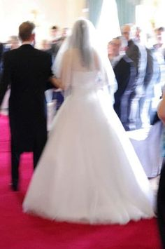 'Even the pictures of us walking into the reception are blurred and all you can…