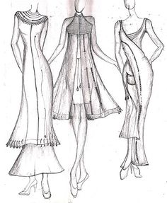 salwar suits models fashion sketches - Google Search