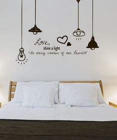 Wall Decal Sticker Love Light -- I love this one, too! Vinyl Wall Decal Sticker Love Light -- I love this one, too! Vinyl Wall Decal Stars Crescent Moon Dream Bedroom Ideas Stickers personalised london lamp post wall sticker by oakdene designs Simple Wall Paintings, Creative Wall Painting, Creative Wall Decor, Wall Painting Decor, Bedroom Wall Designs, Wall Decals For Bedroom, Vinyl Wall Decals, Sticker Vinyl, Decals For Walls
