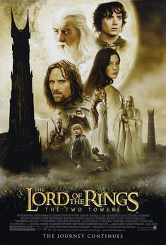 lord of the rings movie posters | The Lord of the Rings: The Two Towers Movie Poster - 2002