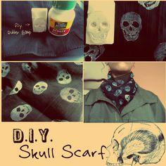 diy skul scarf
