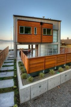 ⌂ The Container Home ⌂ Sun deck detail. contemporary-exterior