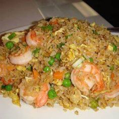 Better Than TakeOut Fried Rice. Still searching for the best fried rice recipe - I hope this is it Seafood Recipes, Chicken Recipes, Cooking Recipes, Cooking Chef, Recipes With Cooked Shrimp, Frozen Cooked Shrimp, Pampered Chef Recipes, Cooking Steak, Asian Recipes