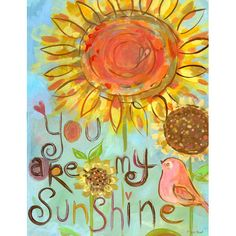 Would look great in Baby Girl's Room...Sunshine Love Canvas Reproduction from PoshTots