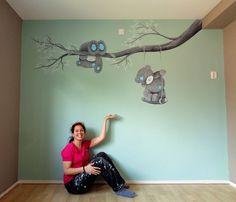 Babykamer muurschildering door Saskia de Wit