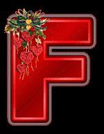 Oh my Alfabetos!: Alfabeto navideño tintineante con corazones rojos.