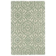 Hand-tufted Runway Damask Mint/ Ivory Wool Rug (3' x 5') | Overstock.com Shopping - Great Deals on 3x5 - 4x6 Rugs