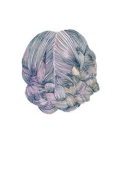 braided hair  A4 print by MadeByEmilyGreen on Etsy, $20.00
