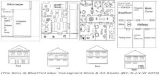 https://flic.kr/p/GJBtaS   (The Sims 3) Consigment Store & Art Studio   I normally use scrap sheets for my technical drawings. Like now I actually I should use more often sketchbook, it is extensive, clear and has useful tools.  The Design is based on A Consigment store   (A community Lot from the expansion Sims 3 Ambition)  And an Art Studio for Indipendent Artists   (Also from The Sims 3 Ambitions, When your Sim can get Skill Careers around skills that produce items)