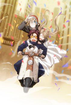 Kekkai Sensen | Blood Blockade Battlefront | Leonardo Watch, William & Mary Macbeth // Black & White | Anime | Fanart | SailorMeowMeow