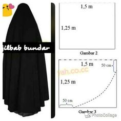 Costura Tutorial and Ideas Niqab Fashion, Muslim Fashion, Dress Sewing Patterns, Clothing Patterns, Abaya Pattern, Bridal Hijab, Muslim Dress, Photocollage, Hijab Tutorial