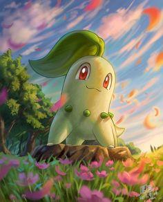 Chikorita....my second favorite pokemon
