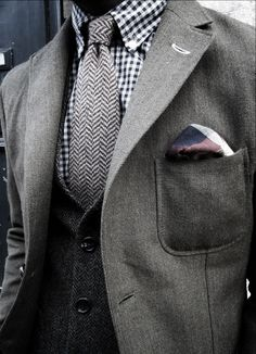 This is an awesome example of layering different colors, patterns, and textures together in a way that makes an outfit look bold rather than...