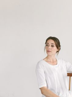 PLEAT FRONT TEE £55 / TOAST JERSEY. Photograph by Rich Stapleton at @Cereal Magazine