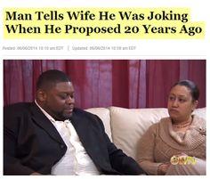 His commitment to the joke is astonishing.