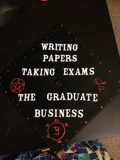 """""""Just finished my graduation cap! Pretty proud of it. :)"""" i want ot do something like this on mine Just finished my graduation cap! Pretty proud of it. :) i want ot do something like this on mine Graduation Cap Designs, Graduation Cap Decoration, Graduation Diy, High School Graduation, Graduate School, Graduation Presents, Graduation Shirts, Winchester, Abi Motto"""