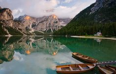 Braies Lake, Trentino Alto Adige, Italy