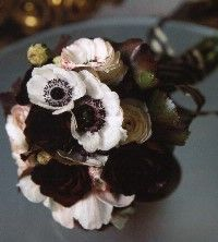 black and white bouquet from the garden