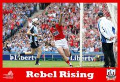 Rebel Rising!! #RebelsAbú #Cork #Dublin #hurling  #partofit St Patrick, Dublin, Rebel, Cork, Ireland, Events, Baseball Cards, News, Sports