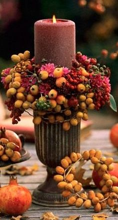 gorgeous fall table decor