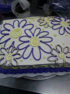 Sheet Cake with flowers