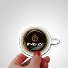 #Coffee #Cup #DieCut #BusinessCard from @inkgility