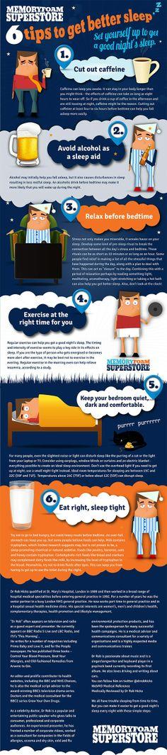 6 Tips to Better Sleep #infografía