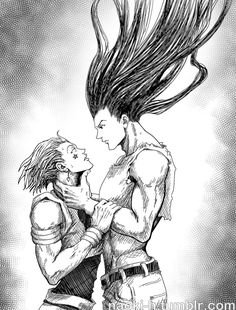 Hisoka and adult Gon by Naoki-h