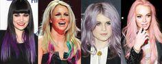 Hair, Colorful, Hairstyle, Jessie J, Britney Spears, Kelly Osbourne, Lindsay Lohan