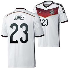 5431ab330 ... cheap adidas germany (23 gomez) 2014 world cup home soccer jerseys  design your own