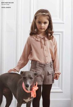 Marie Chantal winter 2012 Girlswear delicate blouses and tweed shorts for fall.