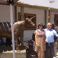 """Unveiling of """"The Ox"""" by Sculptor Guadalupe Jacquez Calderon. The second in the San Elizario Historic District Sculpture Series. Historical Society, Historical Sites, County Jail, Ox, Art Studios, Two By Two, Museum, Sculpture, Gallery"""