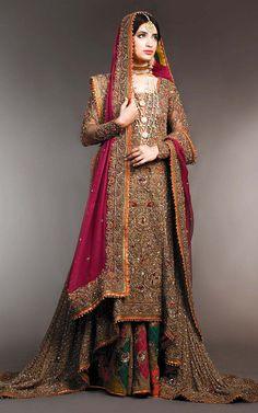 Fahad Hussayn showcased New Bridal Dresses Collection 2015 at Telenor Pakistan Fashion Week 2015, ...