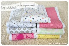 Love this simple DIY burp cloth tutorial from The Thinking Closet seen at the Make and Takes Spotlight, and think that whipping up a few of these to give away as gifts is a great idea!