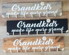 Grandkids Long Distance Gift Grandmother Gift Grandchildren   Etsy Grandparents Christmas Gifts, Happy Grandparents Day, Grandparent Gifts, Grandkids Sign, Long Distance Gifts, Vinyl Gifts, Grandmother Gifts, Hanging Photos, Picture On Wood