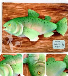 """""""Catch of a Lifetime"""" Trout Groom's Cake by The Cake Mom & Co."""