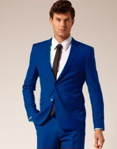 Mens 2 Button Style Jacket Suit & Plus Pants Royal Blue ( Light Blue )  Notch Collar  $139 Designer Suits at affordable prices. Online or in-store (West LA, CA). #designer #mens #suits #suit #meanswear #formal #formalwear #black #brown #darkgrey #charcoal #white #yellow #blue #red #orange #green #2button #3button #4button #5button #6button #7button #twobutton #2 #3 #4 #5 #6 #7 #button