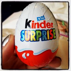 Kinder Surprise ~ chocolate egg with surprise in side; love these!