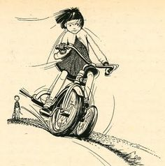 LOVED The Ramona books. I remember this part - She and her friend took the 3rd wheel off of her tricycle so she could be a big girl and ride a 2wheeler