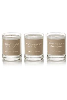 Burberry Beauty - Cedar Wood, Black Amber And Dewy Grass Set Of Three Scented Candles, 3 X 65g - one size