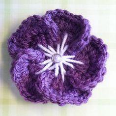 Ravelry: Tropical Crochet Flower pattern by Little Monkeys Crochet